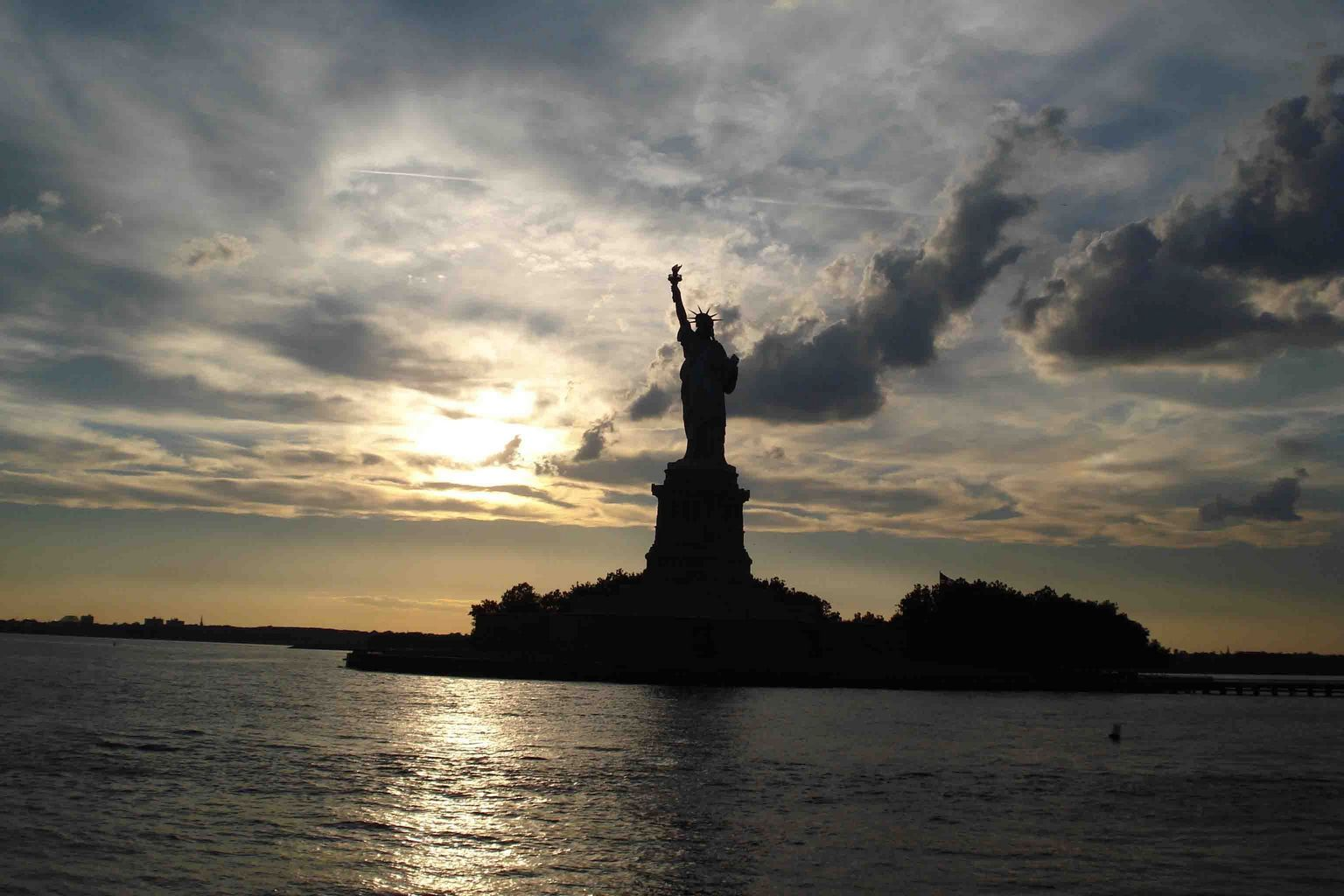 Lady Liberty in the Twilight
