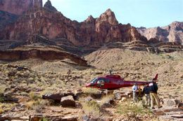 Photo of Las Vegas Ultimate Grand Canyon 4-in-1 Helicopter Tour Landing at the West Rim of the Grand Canyon.
