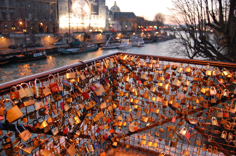 Locks on the Pont Neuf Bridge - Paris