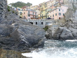 This is the view of Manarola as seen from the boat launch ramp. , Kevin K - June 2011