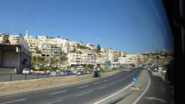 view of Nazareth from the bus , Rachel P - November 2013