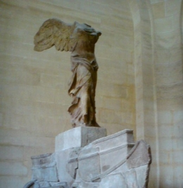 The winged victory of samothrace,The Louvre, Tracey P - September 2010