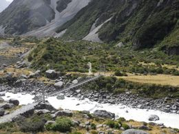 Bridge over Hooker River, John K - April 2010