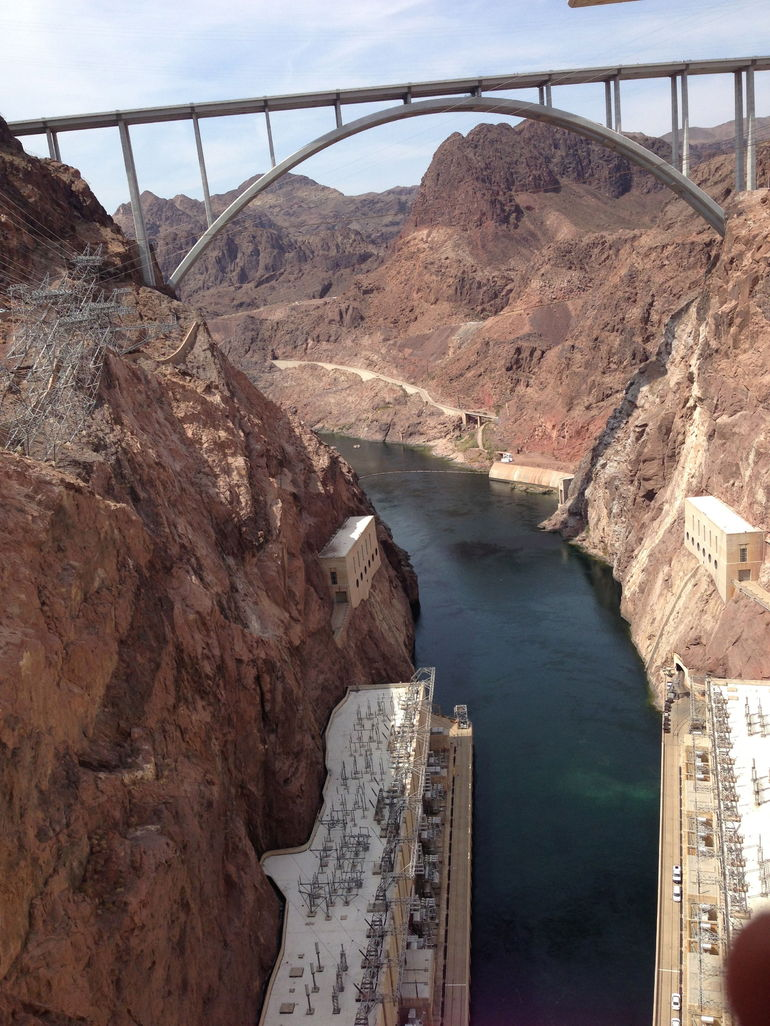 View of the new highway from the Hoover Dam - Las Vegas