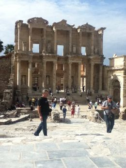 Photo of Istanbul 5-Day Aegean Tour from Istanbul: Gallipoli, Troy, Pergamum, Ephesus, Kusadasi, Pamukkale and Hierapolis Ancient library in Ephesus