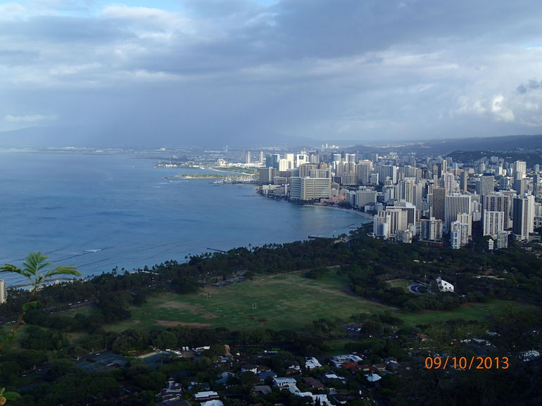 At the top of Diamond Head Crater - Oahu