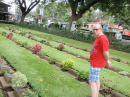 Michael looking at the hero's Gravesite , marilyn f - July 2011