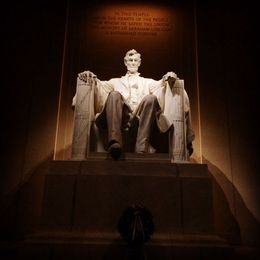 Inside the Lincoln memorial - March 2015