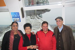 With Dear Old friends Raja and Mangla with Mrunalini and Dilip - Meeting after 26 years at London Eye - Isn't it Great !! , Dilip K - June 2014