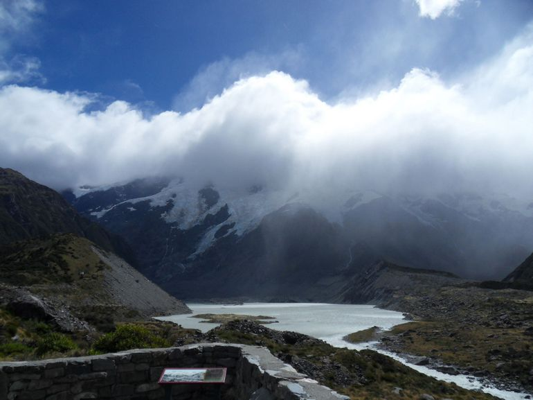 Looking up Hooker River to Mueller Glacier - Christchurch