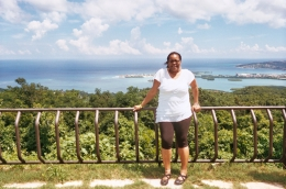 in front of Montego Bay background about 1700 ft high, Stephanie M - August 2010