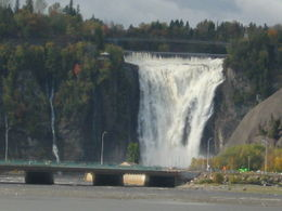 Montmorency Falls taken from the St Lawrence River , Maria d - October 2012