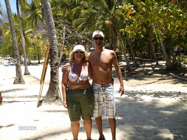 My husband and me on the beach - Jaco