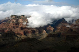 Storm conditions inside the Canyon. We're not complaining our helicopter ride got cancelled! , Andy N - August 2014