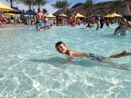Noah in the wave pool - August 2013