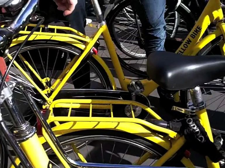 Yellow Bikes - Amsterdam