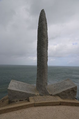 A Bayonette Memorial Monument to the Rangers who lost their lives in the invasion of Pointe du Hoc. Over 180 brave soldiers lost their lives in taking and holding Pointe du Hoc over a 2 day period. , John C - September 2012