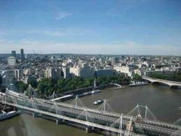 A view from near the top of the London Eye, Cherie B - June 2009