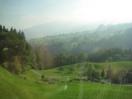 A picture taken from the bus on route to Heidiland., Efraim E - October 2010