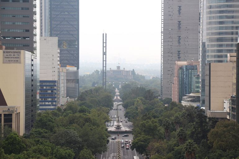 The Chapultepec Castle seen from the top of the Angel of Independence