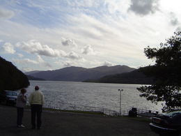 View from the hotel at Loch Lomond , Larry K - October 2011