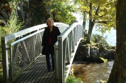 Over a small bridge at the Loch., Sheila R - October 2008