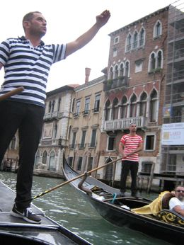 The Gondola men arguing? we think? , Lorraine S - October 2013
