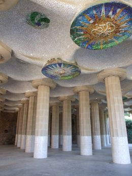 The columns on the entrance of Parc Guell., Andrey Y - June 2008