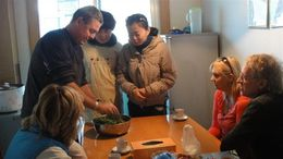 Photo of Xian Experience Xi'an: Dumpling Making and Family Cooking Class Prepping the veggies