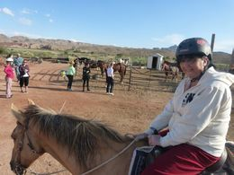 my wife on her horse Cowboy , Stephen B - May 2014