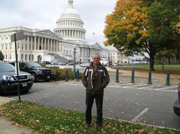 Photo of   Roger in front of the Capitol