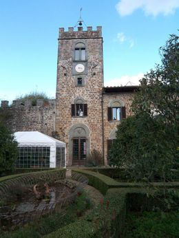 This is the castle where the wine tasting is held. - April 2008