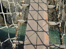 The view from the middle of the rope bridge. - September 2007