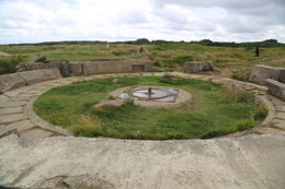 German cannon base at Pointe du Hoc. , John C - September 2012