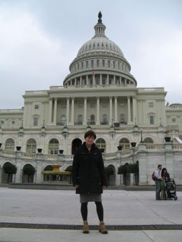 Photo of   Berte in front of the Capitol