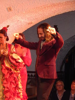 Professional Flemenco dancer at Tablao Cordobes , Douglas G - December 2014