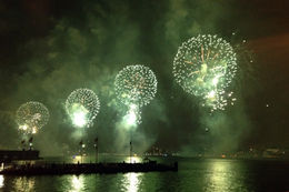 Photo of New York City 4th of July Fireworks Viewing Party on New York City's Hudson River Pier Happy 4th of July!