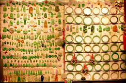 Jade articles being sold at a Hong Kong Market - August 2012