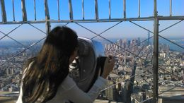 My daughter looking downtown from the Empire State Building. , Brian S - August 2015