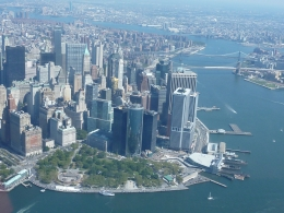 Lower Manhattan and Brooklyn Bridge in the distance, Nicole S - September 2010
