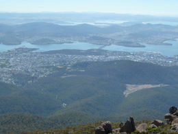 Mount Wellington, looking out over Hobart - October 2011