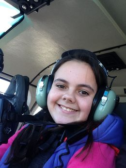 Pia's first visit to New York October 2013 and first Helicopter Ride - an experience she will never forget , O R - December 2013
