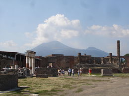 A view of Pompeii with Vesuvius in the background. , Vangelis E - August 2013