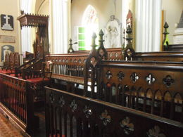 the 300 year old pews, still in use today. , Kristian W - May 2012