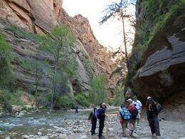 Hking the Narrows at Zion - August 2012