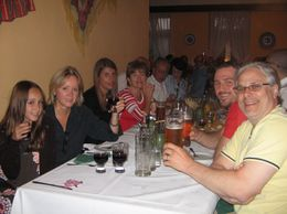 When we arrived we were seated with other families from our tour. Everyone was in a good mood and it only got better as the wine flowed., Deborah C - August 2009