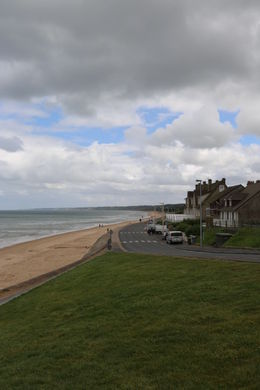 Omaha Beach. The serene vacation site of today belies the carnage of D-Day. , John C - September 2012