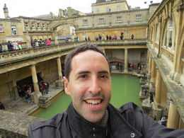 A self-captured photo inside the Roman Baths historical site - a must for anyone going to Bath , David B - April 2013