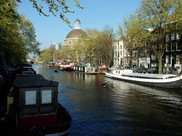 A view of Amsterdam, taken from the bus, on our way back from the tour , Brenda A - April 2015