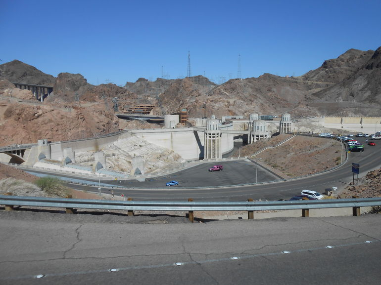 Arizona side view of spillway - Las Vegas